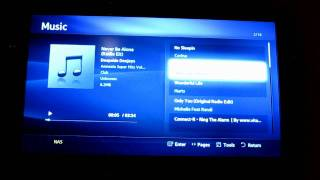 Samsung LE32D550 using DLNA
