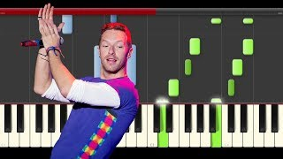 Coldplay All I Can Think About Is You Piano Midi tutorial Sheet app Cover Karaoke