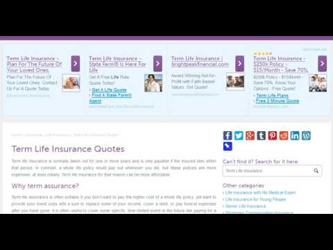 Term Life Insurance Quotes #Life Insurance# & #Health insurance #
