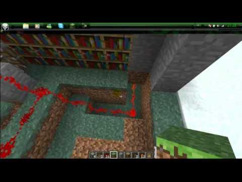 come fare un passaggio segreto nella libreria su minecraft