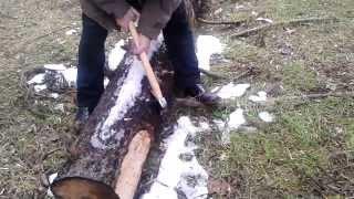 Испытание тюнингованного топора ОАО