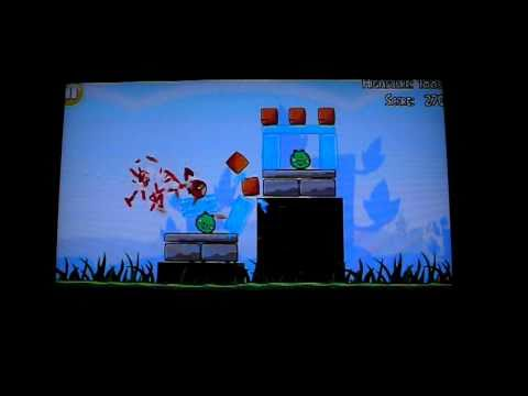 Angry Birds Lite on Nokia N8 - playing on a HD TV, via HDMI