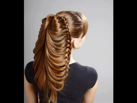 Peinado: Trenza de mariposa en coleta