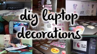 DIY laptop decorations