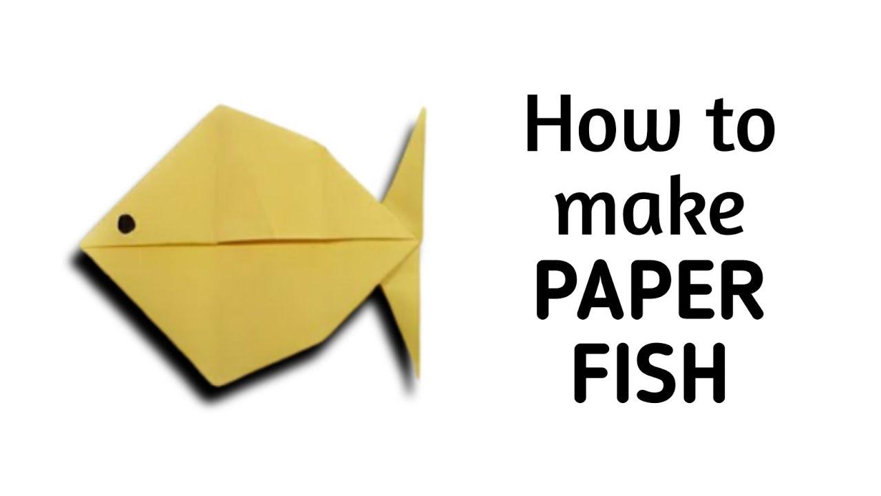 Смотреть как сделать рыбку из бумаги