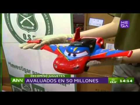 Millonario decomiso de juguetes falsificados de reconocidas marcas