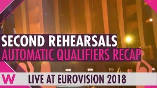 Eurovision 2018 automatic qualifiers second rehearsals recap | Day 8 (6 May)