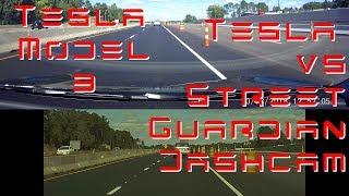 Tesla Model 3 - TeslaCam vs Street Guardian Dashcam