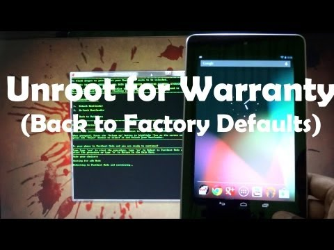 How to Unroot / Unbrick the Asus Google Nexus 7