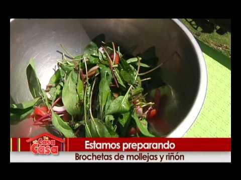 COCINA ECUATORIANA CHEF MAURICIO ARMENDARIS RECETA BROCHETAS DE MOLLEJA Y RIÑON