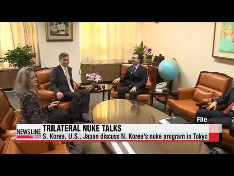 S. Korea, U.S., Japan hold trilateral nuke talks in Tokyo   오늘 한미일 6자회담 수석대표 회의…