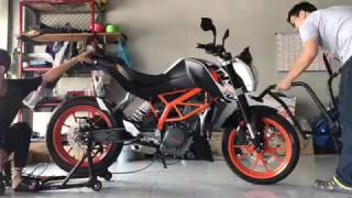 My KTM Duke 390 Tyre Replacement