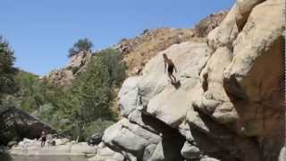 "Cliff Jumping at ""Devil"