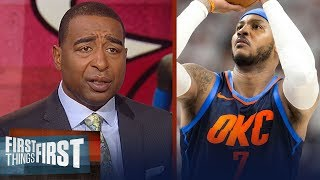 Cris Carter on where Carmelo Anthony is most likely to play next season | NBA | FIRST THINGS FIRST