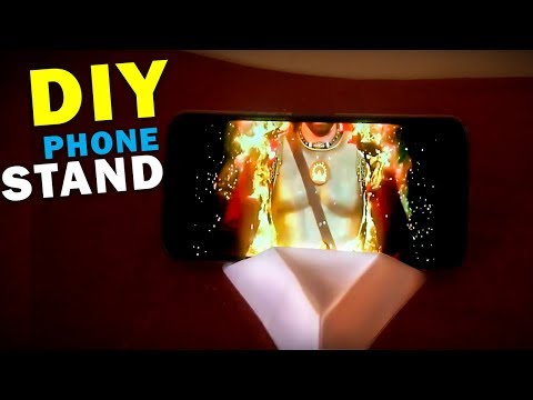 How to make DIY mobile stand for smartphones in 5 Steps | Paper craft | Mobile accessory