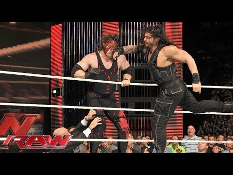 Roman Reigns sparks massive brawl with Kane: Raw, July 7, 2014 thumbnail