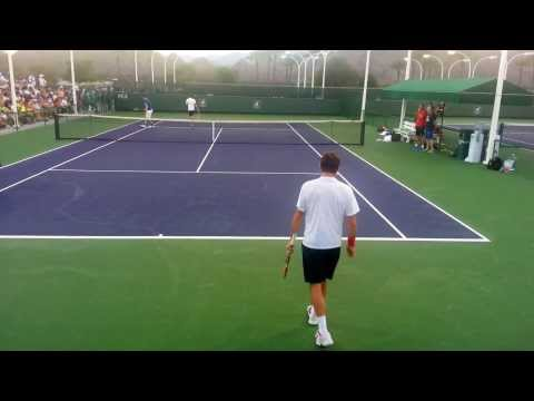 BNP Indian Wells 2014 Murray & Wawrinka Practice part II