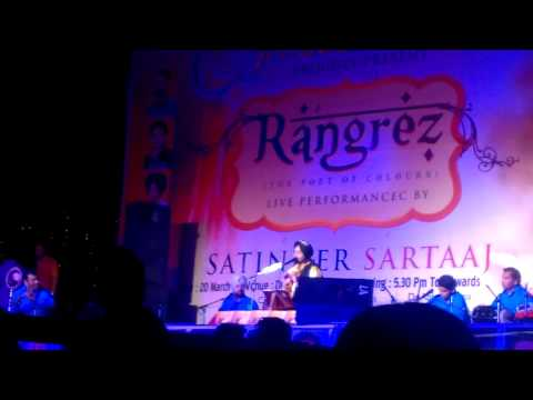 University || Satinder Sartaj (rangrez) || Brand New Song Live In Pu || 2014 video