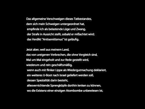 Günter Grass - Was gesagt werden muss | Antisemitismus?