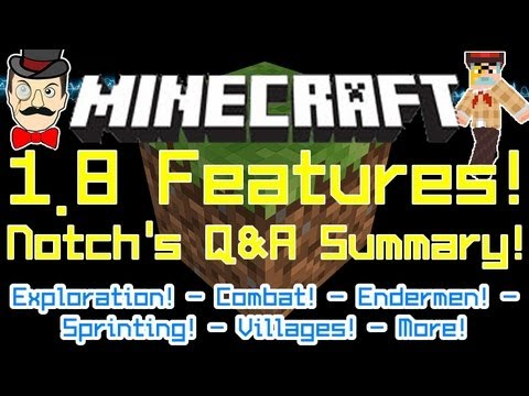 Minecraft 1.8 Latest News from Notch Q&A at PAX! Full Update Summary!