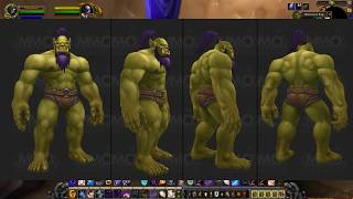 Trolls, Dwarves, and Upright Orcs. They all look GREAT... new race envy