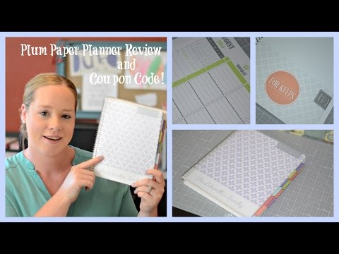 Plum Paper Planner Review and Coupon Code!