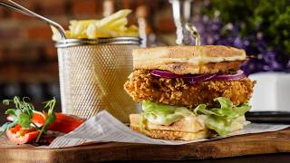 Recette : Waffle burger au poulet pané