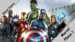 Official Trailers - Marvel Cinematic Universe (Phase 1)