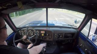 Straight piped GMC Brigadier with 6v92 straight pipes Interior video 2