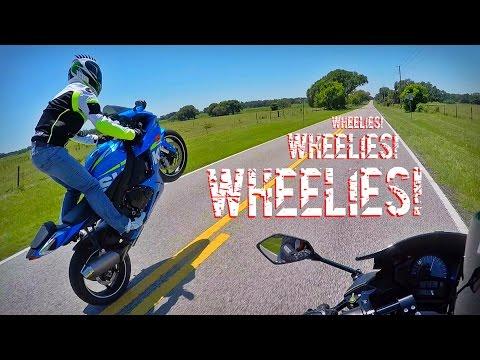 GSXR 750 Wheelie Practice (RAW)