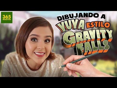 COMO DIBUJAR A YUYA ESTILO GRAVITY FALLS - Como sería Yuya si viviera en Gravity Falls