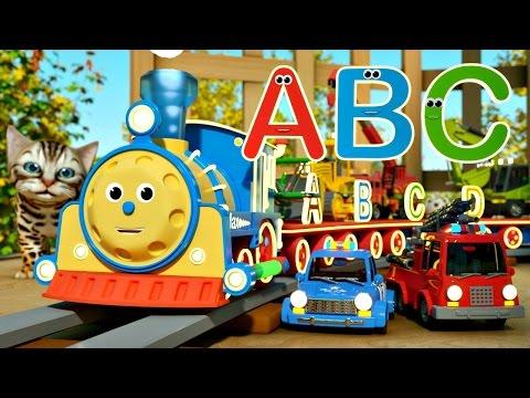 Мультфильм про машинки и паровозики. Макс и английский алфавит