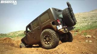 Lebanese Jeep Wrangler with 6.4 Hemi engine goes off-roading