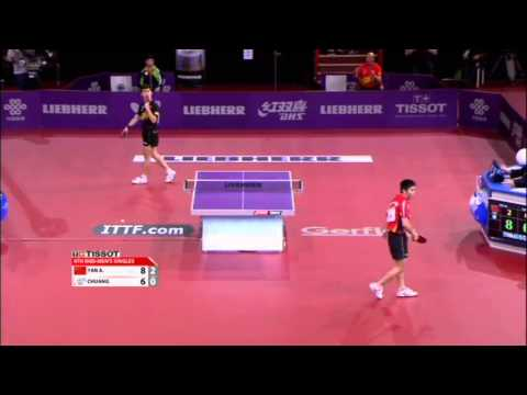 WTTC 2013 Highlights: Yan An vs Chuang Chih-Yuan (1/8 Final)