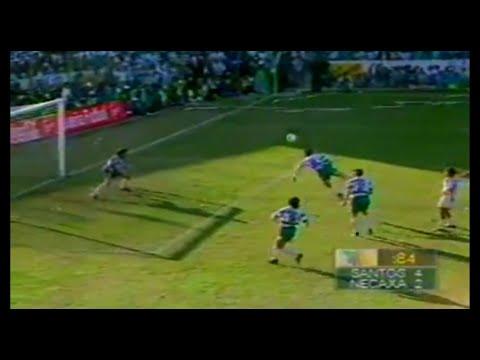Final Santos Laguna vs Necaxa. Jared Borgetti mete gol en fuera de lugar contra Necaxa Torneo de Invierno 1996.