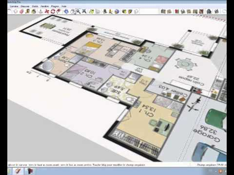 for Sketchup plan maison