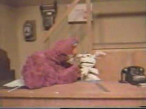 Telly Monster Drop Kicks Rapid T. Rabbit off Sesame Street Video
