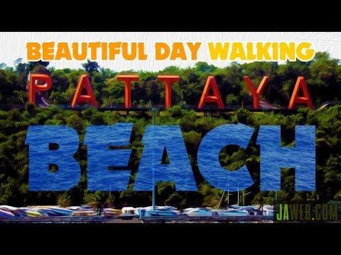 Beautiful Day Walking Pattaya Beach Thailand