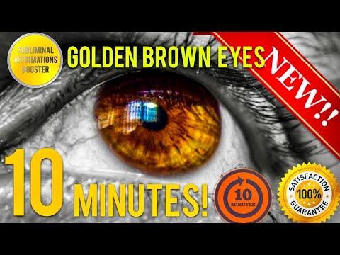 🎧GET GOLDEN BROWN EYES IN 10 MINUTES! SUBLIMINAL AFFIRMATIONS BOOSTER - BIOKINESIS