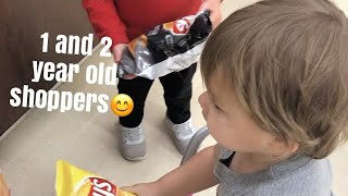 The ACE Family Shopping challenge (Most Adorable 2 and 1 year olds)