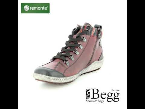 Remonte Zigcoll Tex R1495-35 Wine ankle boots