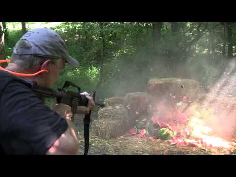 M4 Full Auto vs 50 Watermelons