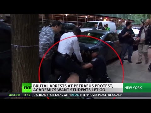 Police Punch Line: Cops brutally arrest anti-Petraeus student protesters