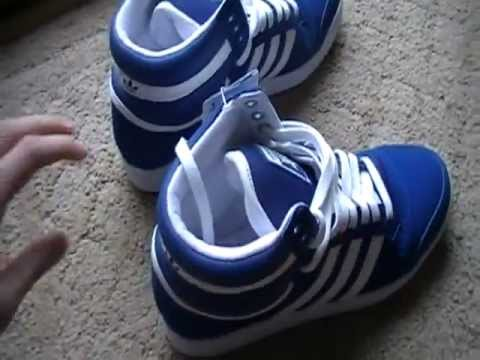 Adidas Top Ten High (Blue/White) Basketball Shoes Unboxing