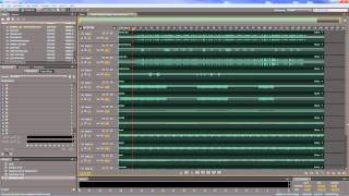 Adobe Audition - Using a bus track in a multitrack session