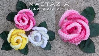 Learn How to Crochet a Rose - Ring of Roses - Flor Flores Rosa Rosas