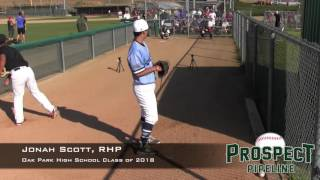 Jonah Scott Prospect Video, RHP, Oak Park High School Class of 2018x