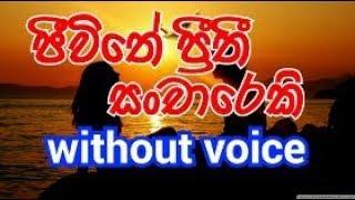 Jeewithe Preethi Sanchareki Karaoke (without voice) ජීවිතේ ප්රීතී සංචාරෙකි