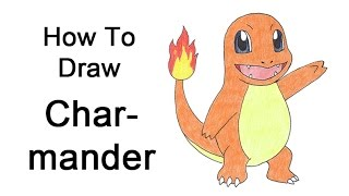 how to draw charmander step by step easy