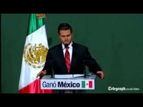 PRI's Enrique Pena Nieto declares victory in Mexico presidential election